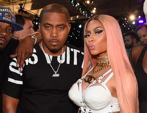 nas kisses on nicki minaj for his 44th birthday bso