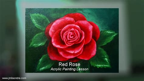 acrylic painting roses acrylic painting lesson flower by jm lisondra