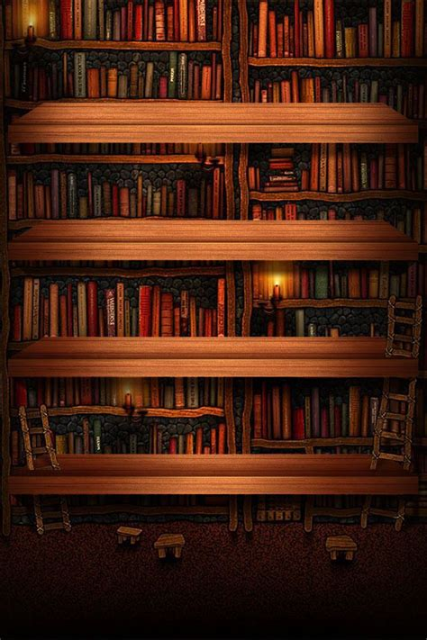 Book Shelf by Bookshelf Wallpaper Phone Wallpapers