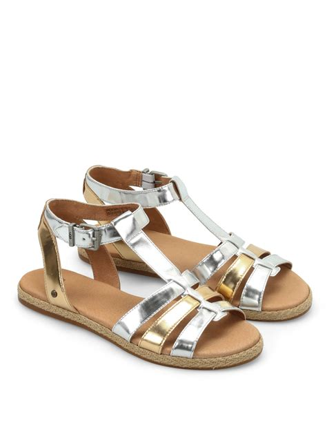 uggs sandals lanette patent leather sandals by ugg sandals ikrix