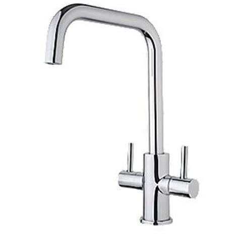 Swirl Divine Dual Lever Mono Mixer Kitchen Tap Chrome
