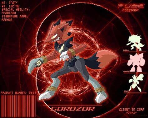 Metal Pin Zoroark zoroark golurk scizor gorozor fusion