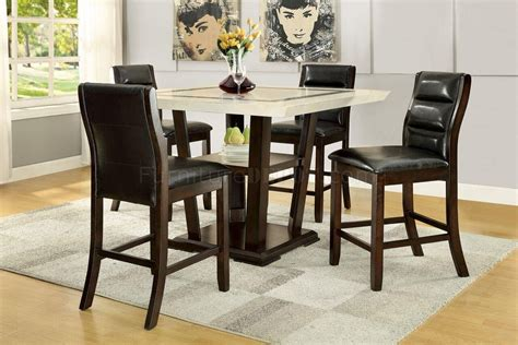 5 Table Set by Lacombe 105848 Counter Height Dining 5pc Set By Coaster