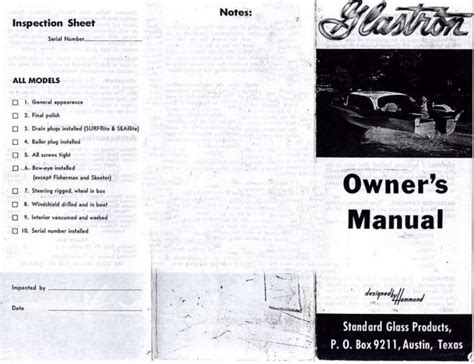 glastron boat owners manual 1958 glastron brochure owners manual 1958 glastron
