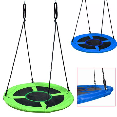 s m swing 40 quot kids outdoor round hanging web mat rope nest tree