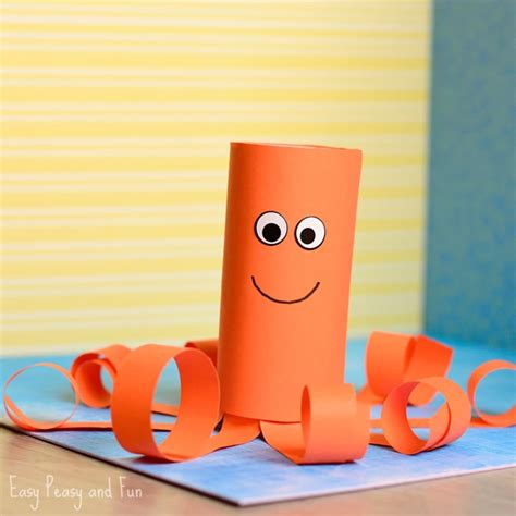 octopus toilet paper roll craft toilet paper roll octopus craft easy peasy and