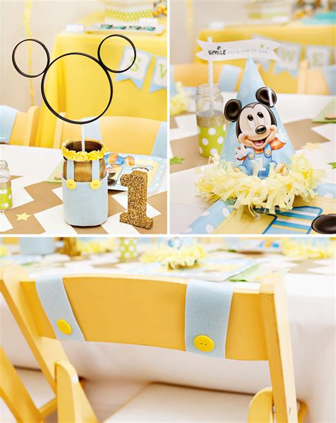 printable birthday table decorations creative mickey mouse 1st birthday party ideas free
