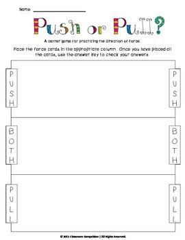 And Motion Worksheets 5th Grade by And Motion Pack Work By Classroom Compulsion