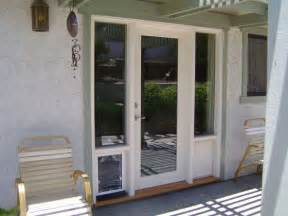 Patio Door With Pet Door Built In French Doors With Doggie Door Built In Wood French Doors