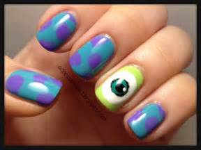 ooh cute nails monsters university inspired nails