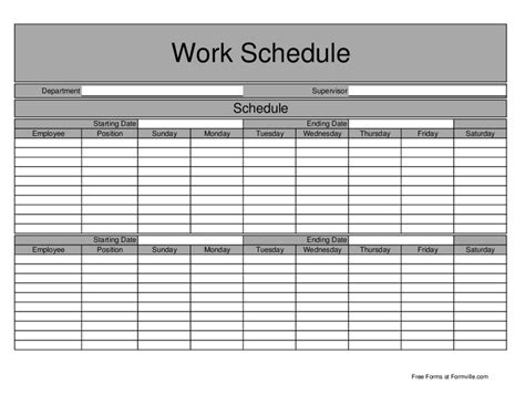 schedule of work template basic biweekly work schedule hashdoc