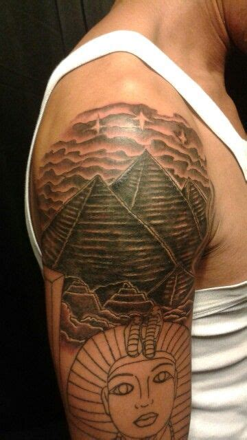 egyptian pyramid tattoo pyramids black and grey tattoos by marz
