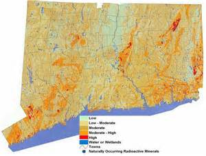 connecticut radon map