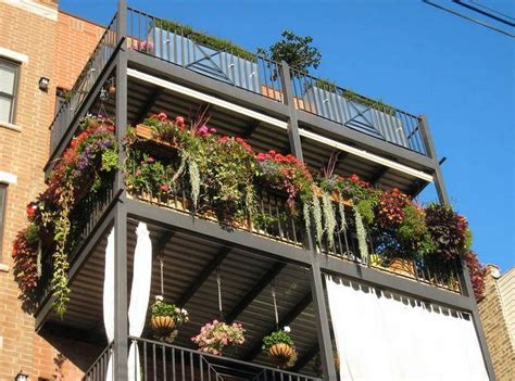 Apartment Balcony Planters by Apartment Balcony Container Gardening Ideas Home