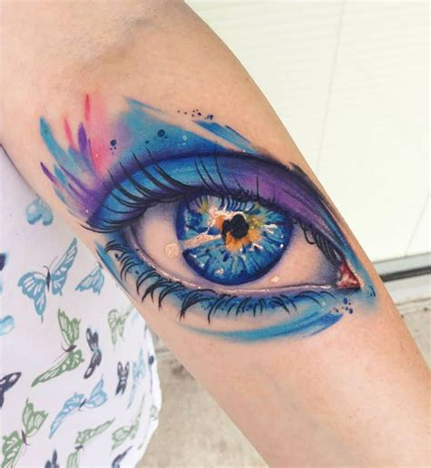tattooed eyes colorful tattoos for and collections