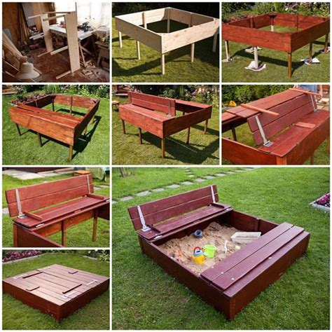 diy home playground ideen diy sandbox for
