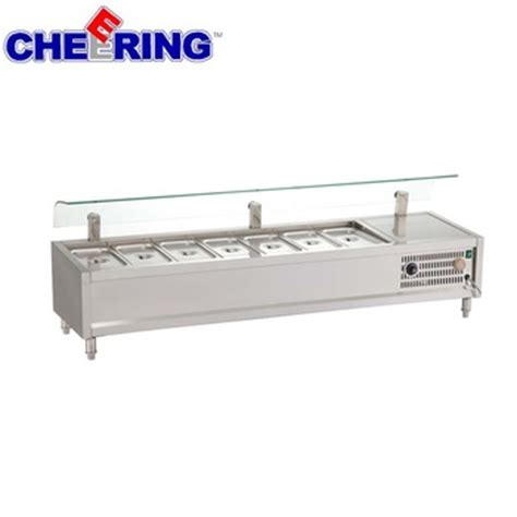 refrigerated bar top table top refrigerated salad bar with sneeze guard buy table top salad bar product