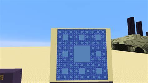 minecraft teppich sierpinski carpet fractal in minecraft pojdotcom s