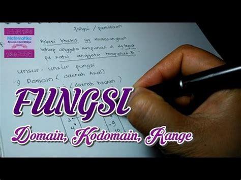 fungsi domain kodomain  range youtube