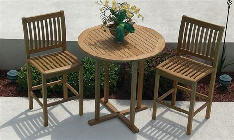 patio bar table and chairs teak bar table and chairs pipefinepatiofurniture