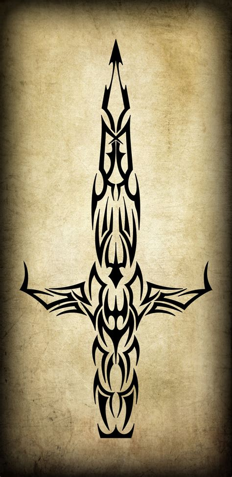 tribal tattoos knife tribal dagger by blakewise on deviantart