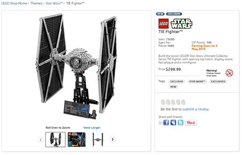 Lego Starwars Tie Fighter lego 75095 ucs tie fighter australian price and release date