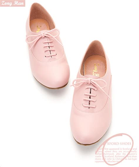 womens pink oxford shoes boyfriend style womens lace up oxford flat shoes in pink