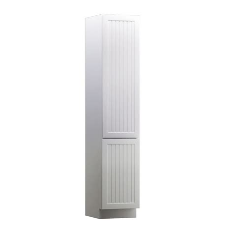 white freestanding linen cabinet shop kraftmaid 18 in w x 88 5 in h x 18 in d white maple