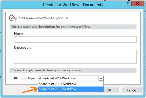 the option for the sharepoint 2013 workflow platform the option for the sharepoint 2013 workflow platform is