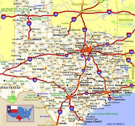 road map of central texas road map tour of texas