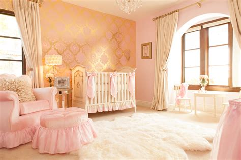 Home Interiors Pinterest ivory amp pink girl s nursery by little crown interiors