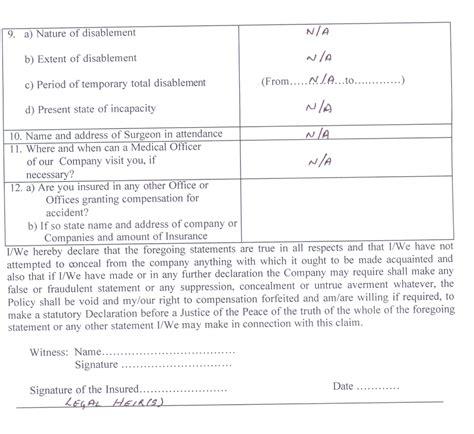 claim form bajaj allianz claim bajaj allianz claim form