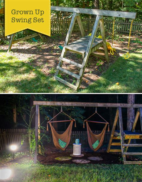 make a swing set swing set for grown ups pretty handy girl