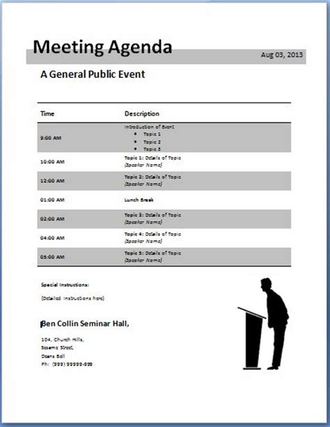 conference call meeting agenda template 10 formally used agenda templates formal word templates