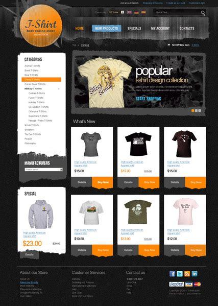 Best Website Templates T Shirt Website Template Free