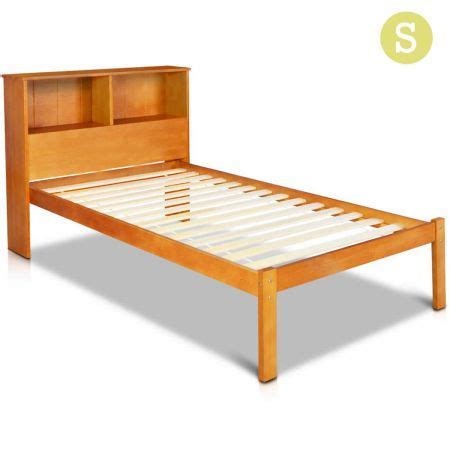 single wood bed frames single pine wood bed frame with storage shelf sales