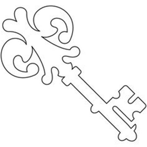 skeleton key pattern use the printable outline for crafts