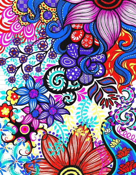 flower design using colored paper doodle la 2 by generallyspeaking on deviantart