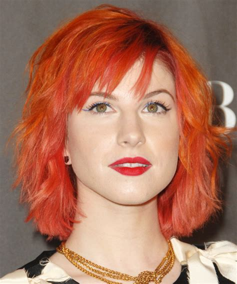 Hayley Williams Hairstyles by Hayley Williams Medium Wavy Alternative Hairstyle