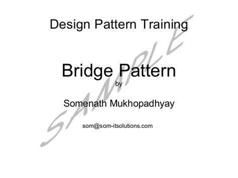 pattern making slideshare bridge pattern