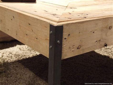 diy reclaimed wood table legs reclaimed pallet wood and steel legs table pallet
