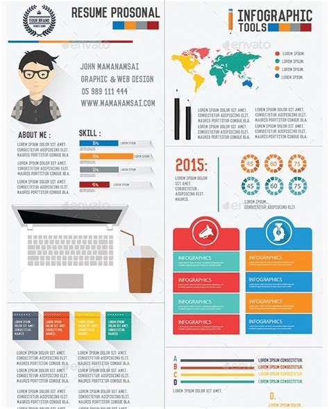 Cover Letter Curriculum Vitae Infographic Simple Resume Template Creative Infographic Resume Letter Infographic Template