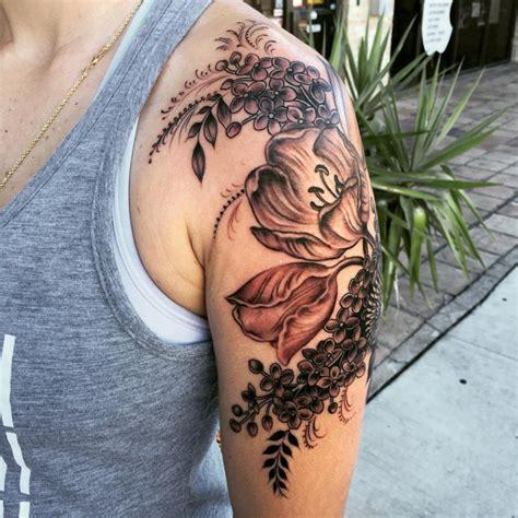 21 Flower Tattoo Designs Ideas Design Trends Premium Black And Grey Flower Tattoos
