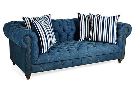 i need a sofa i need a denim chesterfield beau 90 quot sofa denim on