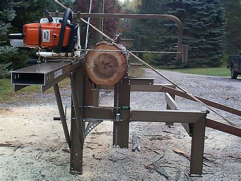greens mill woodworks chainsaw mills log beds the logosol m7 portable sawmill