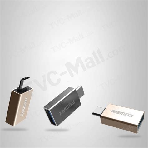 Remax Type C To Usb Otg Adapter For Apple Macbook Chromebo remax type c to usb data charge adapter with otg for meizu