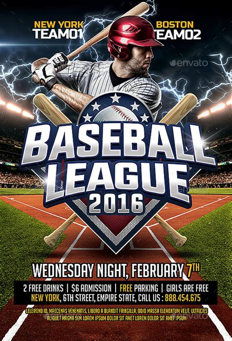 25 Baseball Flyers Psd Vector Eps Jpg Download Freecreatives Baseball Flyer Template