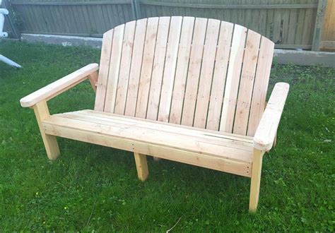 chairs benches pallet adirondack garden bench 101 pallets