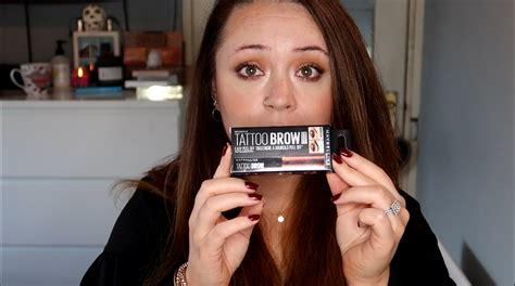 tattoo brow maybelline before and after maybelline tattoo brow demo irish beauty blog beautynook