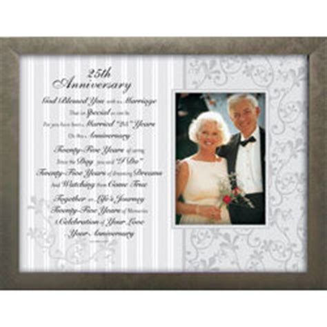 Wedding Anniversary Toast by 25th Wedding Anniversary Toast And Photo Frame Findgift
